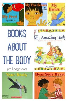 "Pre-K books to read. Best Body Pre-K and Kindergarten books. A book list of books about the human body and the senses for preschool, pre-k, and kindergarten; great for an ""All About Me"" theme Preschool Body Theme, Body Parts Preschool, Preschool Literacy, Preschool Books, Literacy Activities, Toddler Preschool, Montessori Science, Preschool Lessons, Preschool Ideas"