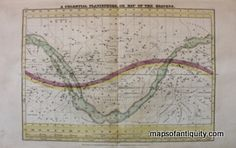 Antique-Map-A-Celestial-Planisphere-or-Map-of-the-Heavens