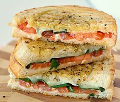 Margherita sandwich recipe. A simple crusty sandwich recipe made with just 4 ingredients.This homemade sandwich is flavorful,delicious and simply amazing!!