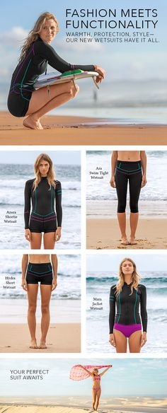 Fashionable. Functional. Feminine. Meet our new Neoprene Collection! Stock up on summer style wetsuits for a bohemian bach-ready capsule wardrobe. Head to prAna.com to shop more sporty-chic looks.