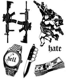Sketch Tattoo Design, Tattoo Sketches, Tattoo Drawings, Tattoo Flash Sheet, Tattoo Flash Art, Dope Tattoos, Black Tattoos, Little Tattoos, Small Tattoos