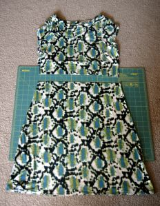 turn a dress into a skirt by adding an elastic waistband