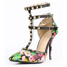 Floral Studded Pumps COMING SOON! Like/comment to be notified when available. Price listed until on sale will not be actual price  Shoes Heels