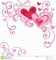 Hearts baby! Swirly, girly, lovely, heart doodles, love, valentine, wedding doodle.