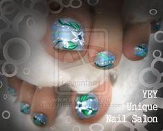 my moms nail by ~YEYUniqueNail