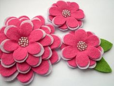 Flowers made from recycled sweaters