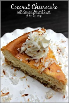 Coconut Cheesecake with Coconut Almond Crust