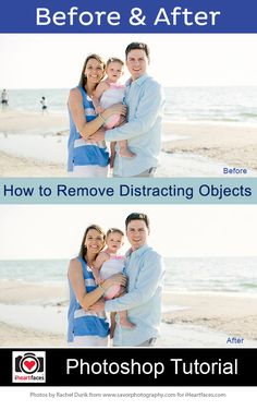 How to Remove Distracting Objects in Photos by Rachel Durik of Savor Photography for iHeartFaces.com
