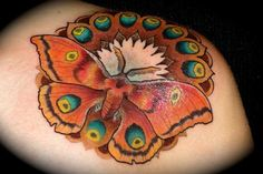 Little moth mondala action. Ben @ Tribal Rites Fort Collins Co. Bug Tattoo, Insect Tattoo, Moth Tattoo, Tattoo You, Colorful Moths, Fort Collins Co, Paradise Tattoo, Body Mods, Body Art