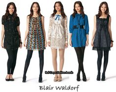 I love the white dress in the middle.  I don't know if you can still buy this collection or not, but I love it.    Blair Waldorf Style- Red Carpet and Gossip Girl