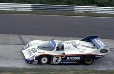 1983, Nürburgring 1000 Kilometres. Nurburgring.-Derek Bell-Stefan Bellof and the Porsche 956.-Photo property Porsche Company - Apollo ?