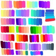 Colour Pallete, Colour Schemes, Color Combos, Color Palettes, Color Palette Challenge, Palette Art, Graphisches Design, Poses References, Digital Art Tutorial