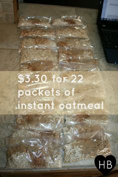 So not bad for 22 big breakfasts for my growing boys! And so healthy for them too. Oatmeal is brain food!
