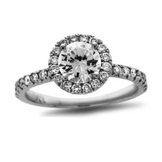 1-3/8 CT. T.W. Certified Diamond Frame Engagement Ring in Platinum (H/SI2)