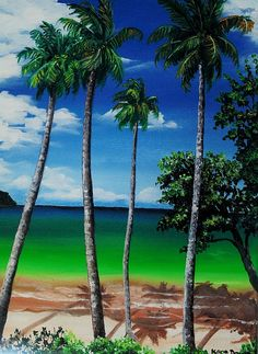 """Las Cuevas Bay"" by Karin Dawn Kelshall-Best #Caribbean #TropicalArt"