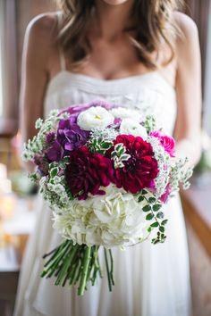 Fall #Bouquet | More Wedding Inspiration on SMP: http://www.StyleMePretty.com/texas-weddings/2014/01/02/fall-wedding-inspiration-at-praetorian/ Rachel Whyte