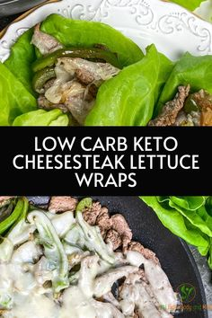 Low carb keto friendly cheesesteak lettuce wrap. This recipe it's great for meal prepping since you can just grab and go. Keto has never been so easy with this recipe.