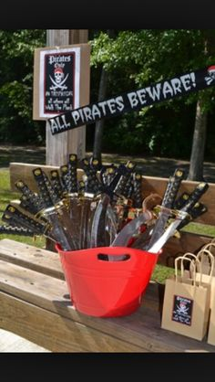 Bucket O swords!