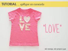 mis nancys, mis peques y yo, tutorial aplique en camiseta love
