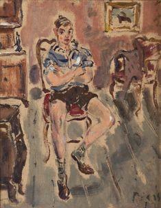 Filippo De Pisis (1896–1956). Ragazzo seduto .  1942 .  Galleria d'Arte Moderna Achille Forti