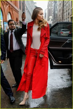 Gigi Hadid Posts Snapchat Video Lip Syncing to Zayn Malik's 'Pillowtalk': Photo #930266. Gigi Hadid sports a red look as she steps out on Tuesday (February 16) during 2016 New York Fashion Week in New York City. The 20-year-old model has walked in…