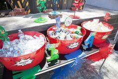 Party details from a PJ Masks Superhero Birthday Party via Kara's Party Ideas | KarasPartyIdeas.com (24)