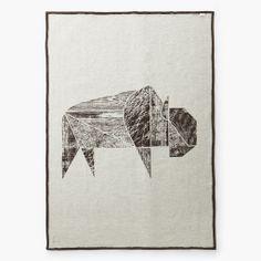 Bison Jacquard Wool Throw by Faribault Wool Mill Co. – Forage Modern Workshop