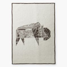 Bison Jacquard Wool Throw by Faribault Wool Mill Co. – Forage Modern Workshop