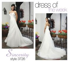 Dress Of The Week: 3726- The Dress of the Week is one of our bridal dresses that creates a sense of class while still being fun.