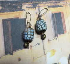 Cottage breezes  Textile earrings fabric earrings by OhSoFabu, $16.00