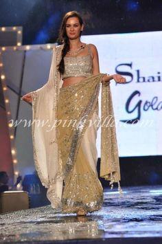 Shaina NCs collection.#saree #indian wedding #fashion #style #bride #bridal party #brides maids #gorgeous #sexy #vibrant #elegant #blouse #choli #jewelry #bangles #lehenga #desi style #designer #outfit #inspired #beautiful #must-have's #india