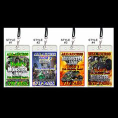 #Monster #Jam Set of 12 #VIP #passes or #party #favors #handmade #thecraftstar $19.99