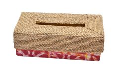 Handmade Tissue box made by Mitimeth of Nigeria available at www.nuerasamp.com.