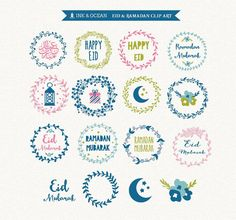 Digital clip art, Eid and ramadhan clip art for invitations, card making, scrapbooking, website Instant Download