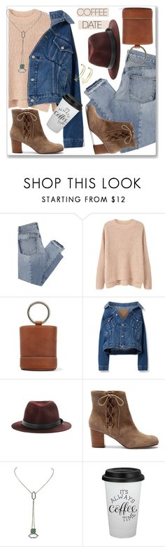 """Coffee Date"" by nantucketteabook ❤ liked on Polyvore featuring Mix Nouveau, MANGO, Simon Miller, Balenciaga, rag & bone, Sole Society, Manka, Maya Magal and CoffeeDate"