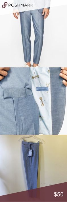 """Zara Man blue melange dress slacks These have never been worn BUT the hem has been let down on the bottom to be tailored to your desired length. (Before let down they're a standard 34"""" inseam)  Very handsome for occasions such as prom, events, or weddings! Zara Pants Dress"""