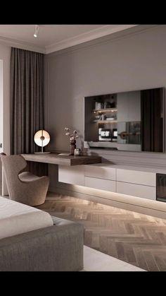 Luxury Bedroom Design, Home Room Design, Master Bedroom Design, Interior Design, Luxury Interior, Bedroom Tv Unit Design, Black Bedroom Design, Study Room Design, Modern Luxury Bedroom