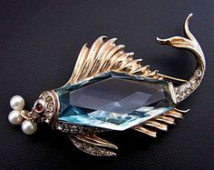 Rare Trifari Sterling Fish Brooch by A. Philippe