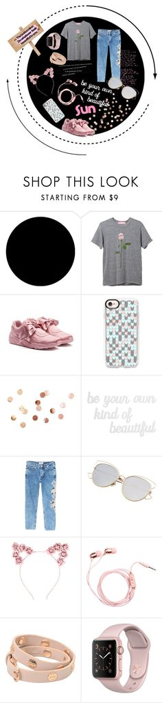 """#Pink#Gray#Black#Cool#Sun#Summer#Fun#PrettyGirl#Beautiful#BelieveYourself#BeYourself#LoveYourself#BelieveInYourDreams#AroundTheWorld#TravelTheWorld😘😘😍😍"" by whitney555 ❤ liked on Polyvore featuring Wall Pops!, Puma, Casetify, Umbra, PBteen, MANGO, Hot Topic and Tory Burch"