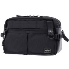 Porter Heat Waist Bag. Ref : 703-0971. Size:W285/H190/D95. Color : Black. Main Fabric: Ballistic Nylon Canvas ( Nylon 100 %). Bottom of the bag : Tarpouline Lining Fabric: Nylon Canvas ( Nylon 100% ). Additional: Each bag comes with a porter orifinal Maglight as a zip puller.