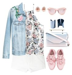 """""""Untitled #172"""" by coolhewie ❤ liked on Polyvore featuring Yves Saint Laurent, Maison Margiela, Karen Walker, Puma, M2Malletier and Monica Vinader"""