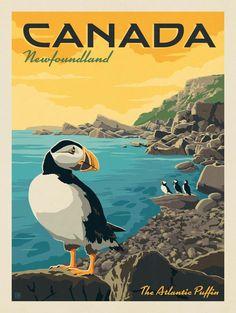 Bedroom Design Vintage Travel Posters 67 Ideas For 2019 Newfoundland Canada, Newfoundland And Labrador, Posters Canada, Voyage Canada, Travel Illustration, Vintage Advertisements, Vintage Advertising Posters, Vintage Travel Posters, Canada Travel