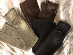 68887d50 Silver Brand Tina Corduroy Jeans 3 Pairs Size 28 Buckle Good Used Condition  #fashion #