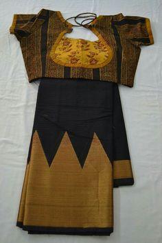 Cotton Saree Blouse Designs, Bridal Blouse Designs, Simple Blouse Designs, Stylish Blouse Design, Designer Blouse Patterns, Blog, Black Saree, Woman Clothing, Designer Clothing