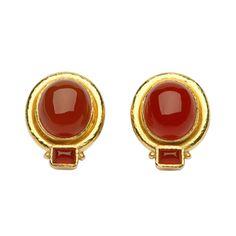1stdibs.com | Elizabeth Locke Gold Carnelian earrings