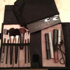 This makeup brush set is available for purchase with this amazing bad. Contact me today if you interested.