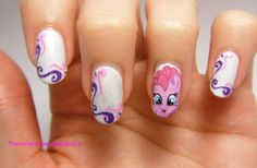 My Little Pony nail art, Pinkie Pie !