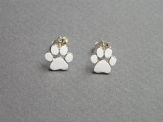 Dogs paws print earrings