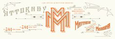 Law Office of Matthew Messina Stationery / Kevin Cantrell #grafica #tipografia #vintage