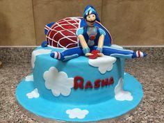 Rasha's lazy town Sportacus cake